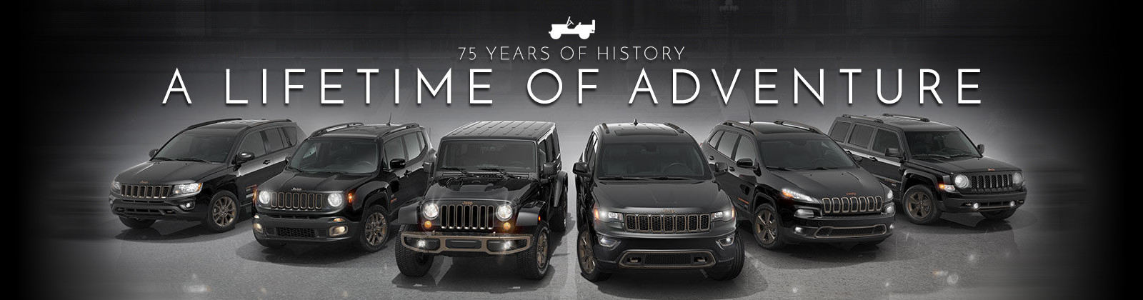 Gelimiteerde serie Jeep '75th Anniversary' editions
