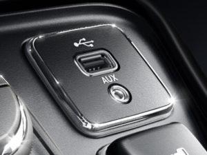 Jeep Compass - Poorten voor aansluiten en opladen externe apparaten