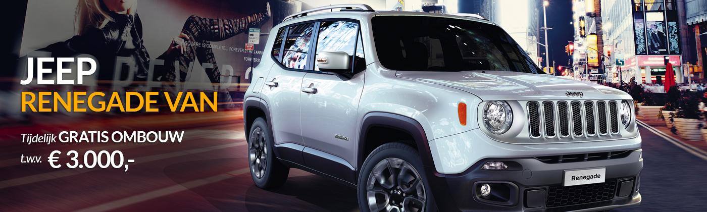 Jeep Renegade Van tijdelijk gratis ombouw t.w.v. 3000 euro