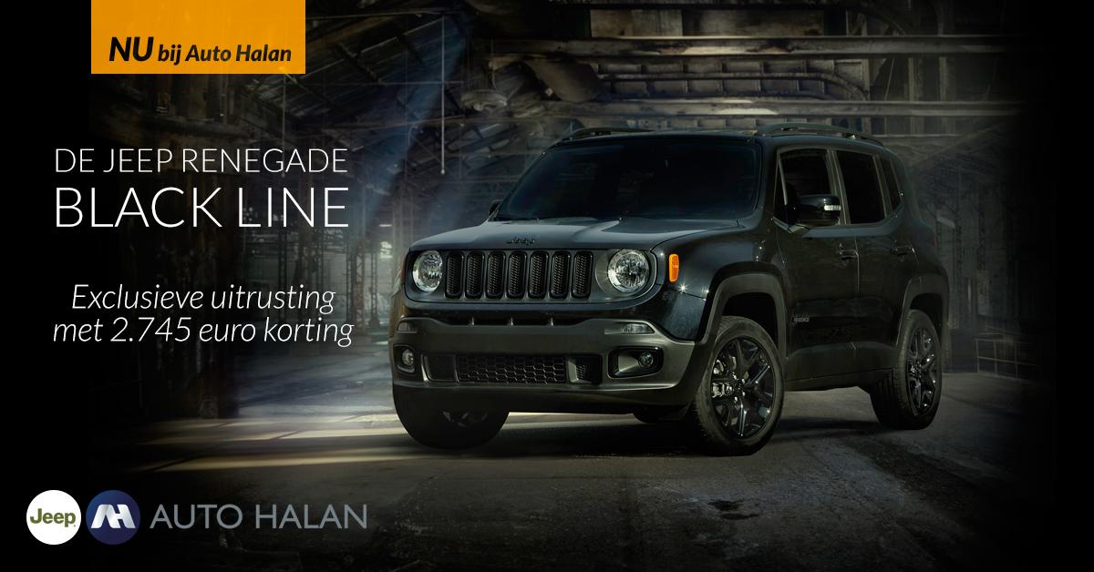 Jeep Renegade Lease >> Jeep Renegade Black Line, exclusieve uitrusting € 2.745 ...