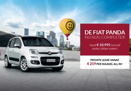 De bijzonder complete Fiat Panda vanaf € 10.995