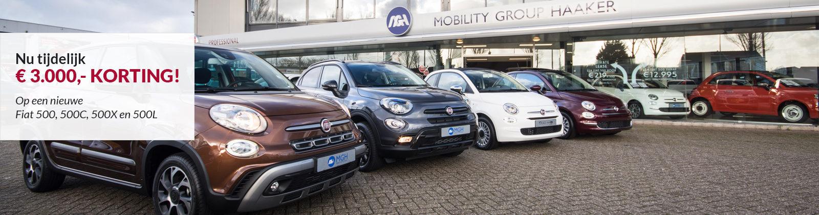 Fiat 500-familie voorraadvoordeel