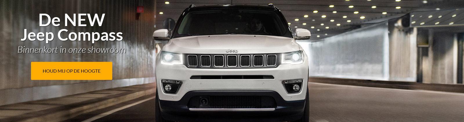 De NEW Jeep Compass! Binnenkort in onze showroom