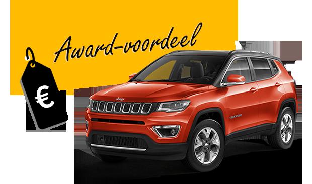 Jeep Compass nu met 3.000 euro Award-voordeel