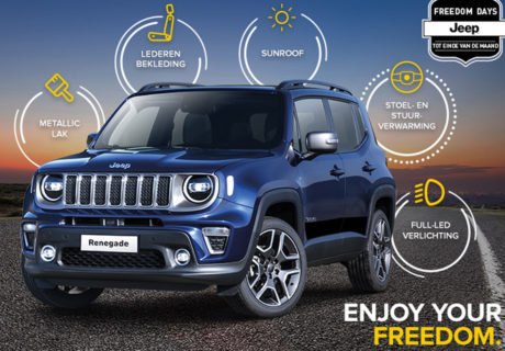 Gratis upgrade Jeep Renegade: van Limited naar Freedom